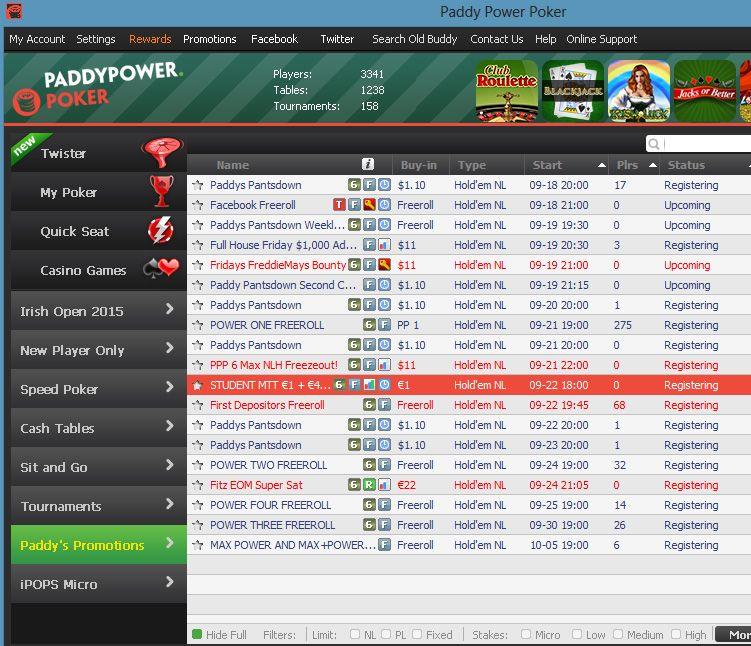 Paddy power poker mobile