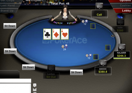 PokerAce Cash Table
