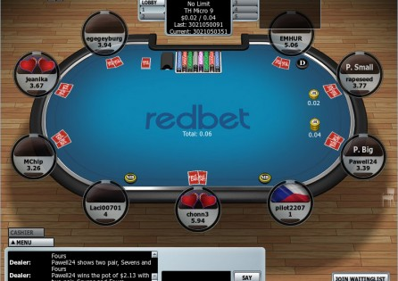 Redbet Poker table