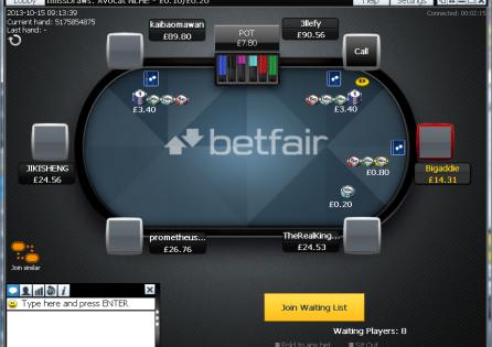 Betfair Table