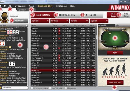 Winamax Poker Main Lobby