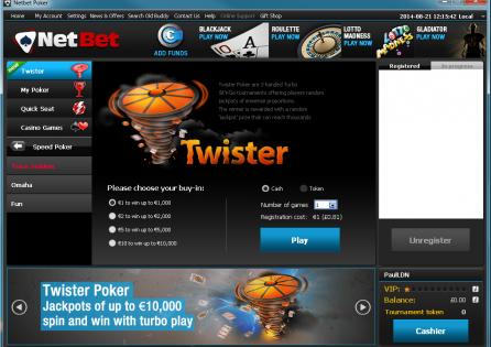 NetBet Twister Lobby
