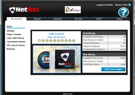 NetBet Cashier