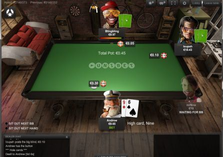 Unibet Poker Mobile Table