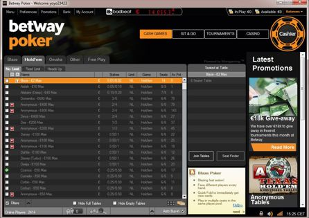 Betway Lobby