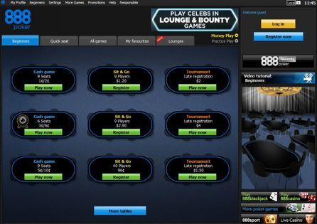 888poker Lobby