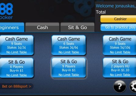 888poker App Lobby