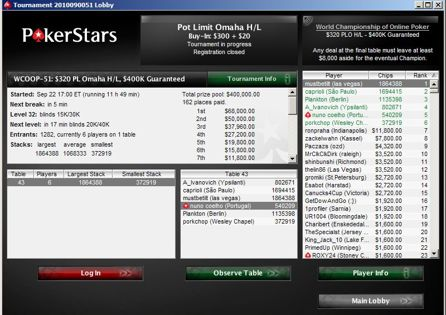PokerStars Tourney