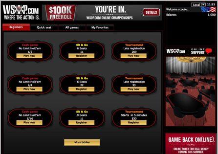 WSOP.com NJ Lobby