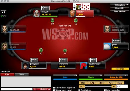Wsop.com Poker table