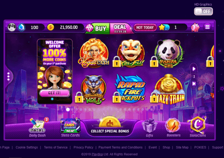 The collection of the most popular Slotomania slots needs to be unlocked to progress in the game.