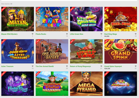 Unibet Games Section