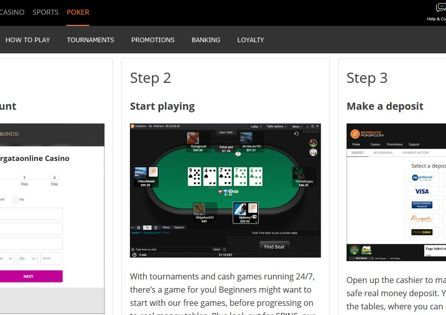 This is Borgata NJ guidebook how to download the poker in-play.