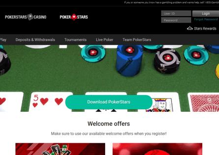 PokerStars NJ Homepage