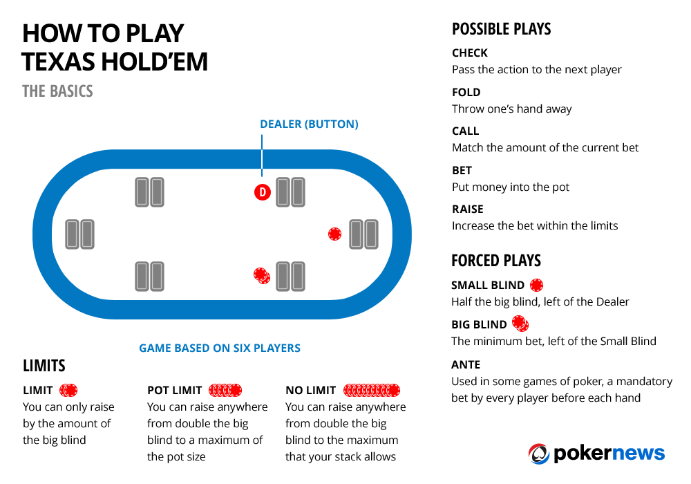 PokerNews how to play Texas Holdem Infographic