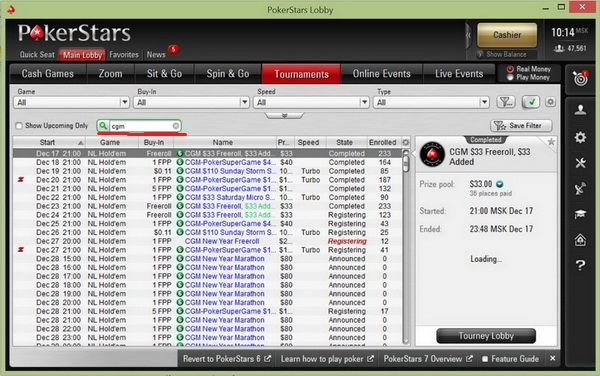 Freeroll su pokerstars