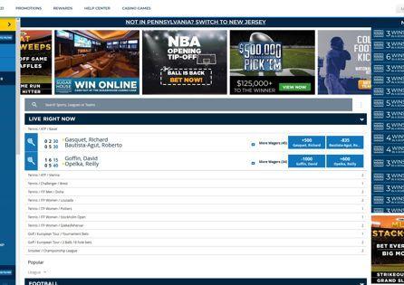 Sugarhouse Sports Betting Homepage